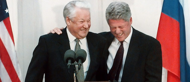 Image result for yeltsin clinton