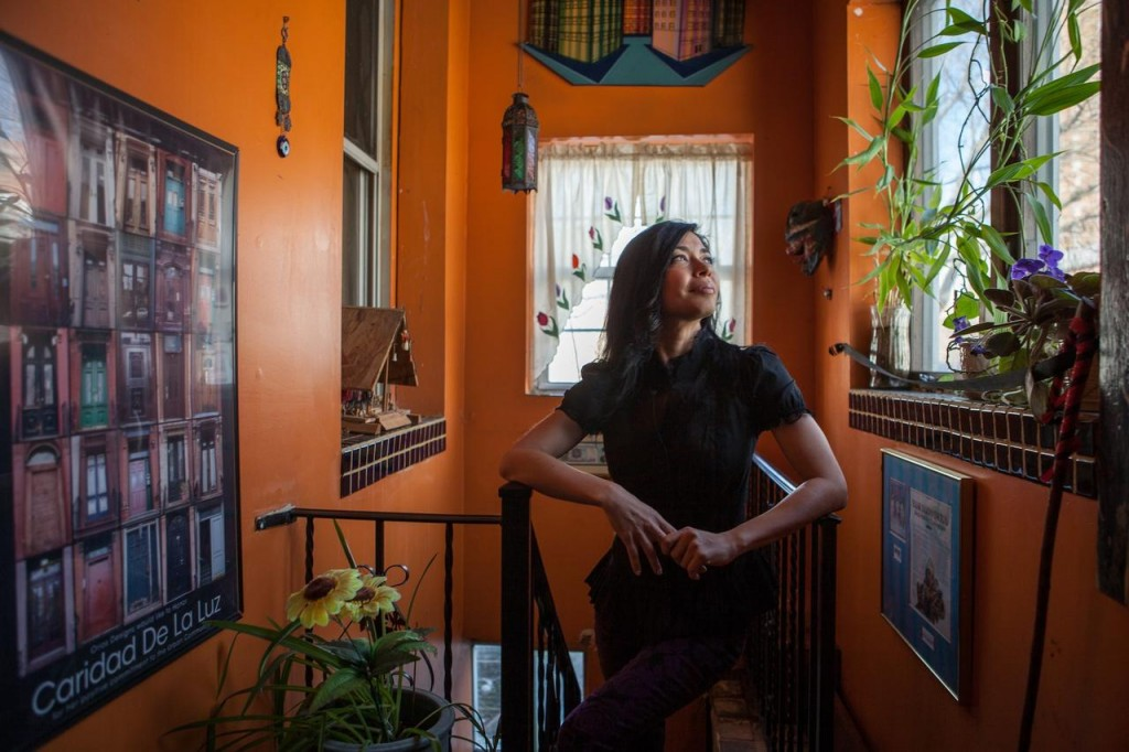 Caridad De La Luz, a.k.a. La Bruja, at her home in The Bronx.