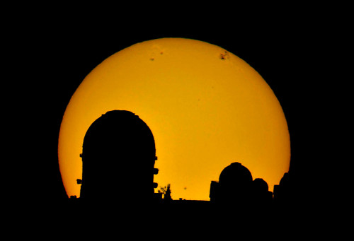 The sun viewed from Pangue Observatory in the Elqui Valley (Photo credit: Pangue Observatory)