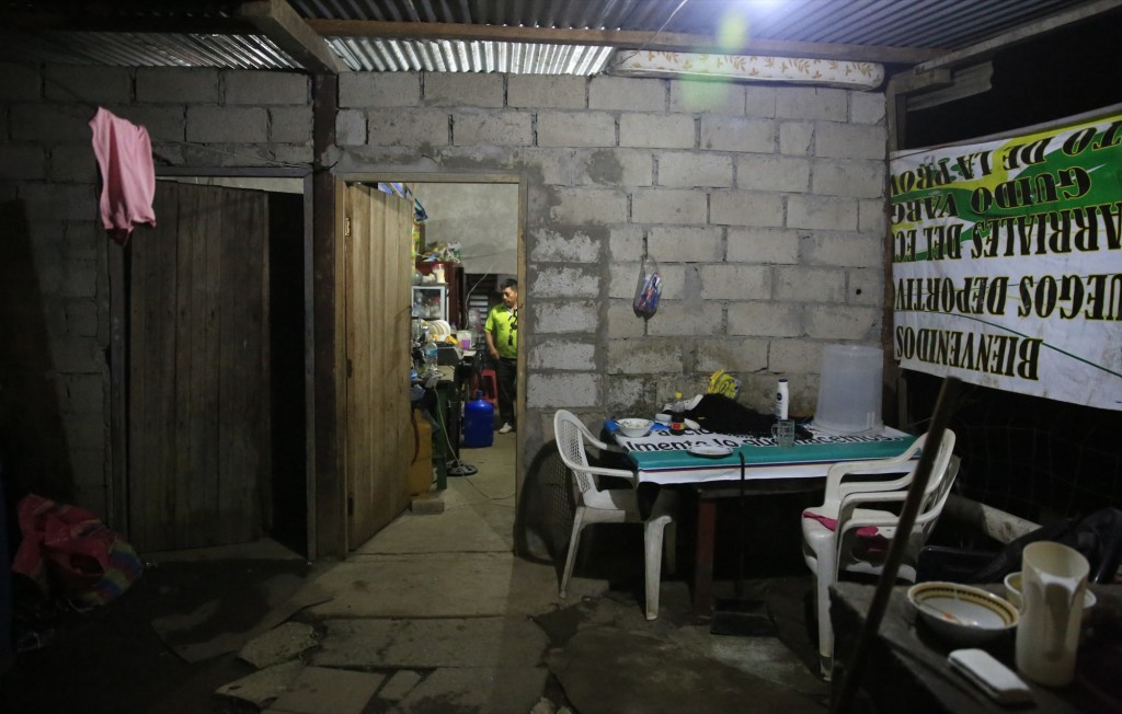 Angel Chamba Cuenca's home is located meters from the recreational hub of Lago Agrio. [Photo: Frederick Bernas]