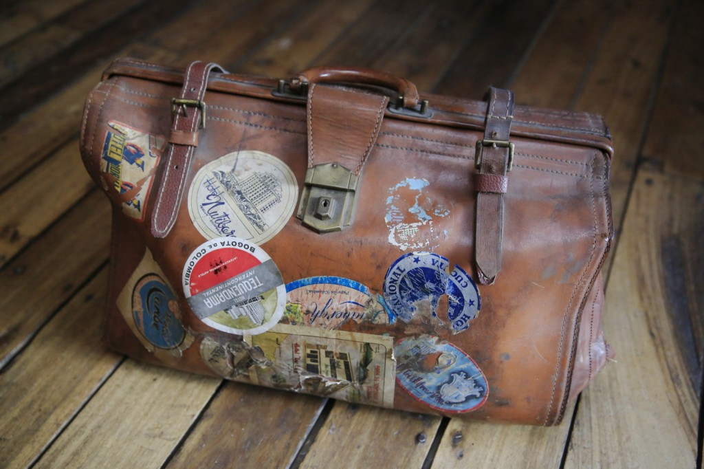 A suitcase that contained about 80 loose reels with no labels. (Photo: Frederick Bernas)